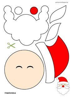 Felt Christmas Decorations, Christmas Ornament Crafts, Christmas Crafts For Kids, Christmas Colors, Kids Christmas, Holiday Crafts, Santa Crafts, Christmas Templates, Christmas Printables