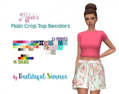 Deelitefulsimmer: Crop Tops • Sims 4 Downloads