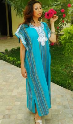 Trend Clothing Turqouise Caftan Kaftan loungewear as