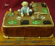 barman and his bar! #awesome #amazingcakes follow us for more amazing cakes like this!