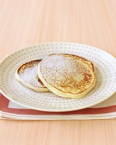 Grated navel orange zest and ricotta cheese make ordinary pancakes extraordinary.