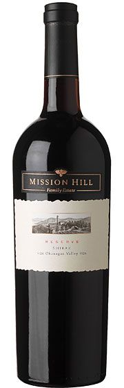 Mission Hill Reserve Shiraz 2010 The 2010 Shiraz shows intense aromas of white pepper, smoked meat, black raspberry and cocoa. The palate is full bodied with notes of cherries, blackberries and an exotic spice note. The Reserve Shiraz has been aged in French and American oak for 11 months.