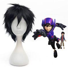 2015 New Anime Big Hero 6 Hiro Hamada Black Short Cosplay Wigs #Aicos #FullWig