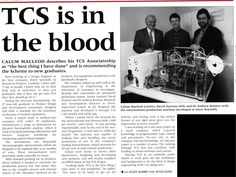 Front page of TCS News nearly 20 years ago.