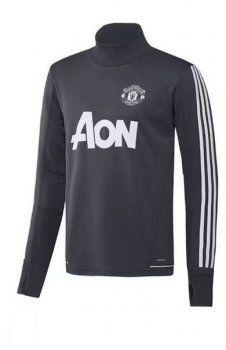 2017 Cheap Sweater Top Man United Replica Black Shirt [AFC791]