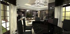 Luxury penthouse design 6 Luxurious Penthouse Apartment with Breathtaking Colour Composition