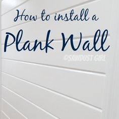 Every time I install a plank wall or ceiling, I get asked tons of questions.  I've done a couple tutorials on plank walls already but I'm doing another one including a video to answer all the quest...
