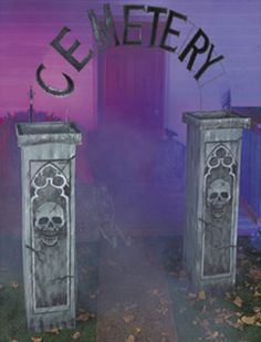 Bone yard cemetery prop