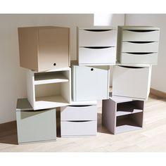bloc modulable 3 tiroirs en pin brut leroy merlin. Black Bedroom Furniture Sets. Home Design Ideas