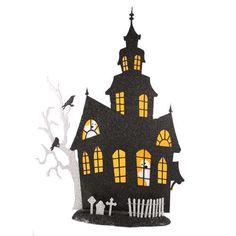 black house with orange windows