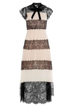 Philosophy di Lorenzo Serafini - Silk Crepe Dress with Lace