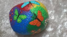 Dot painting stone MINI Rainbow country of lovingly hand-painted River pebbles weatherproof and UV-resistant, 5 cm length