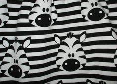 Kinderstoffe - süßer Sweat Stoff Zebra 0,5 m x VB NEU Tiere weiß - ein Designerstück von bmbig bei DaWanda