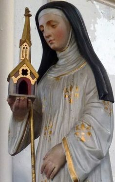 Saint Bertha of Avenay pray for us and against insanity.  Feast day May 1.