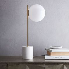 """Sphere + Stem Table Lamp 