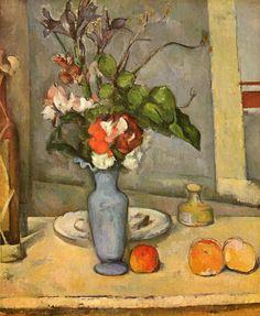 セザンヌ 青い花瓶 1885-87
