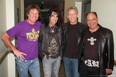 Dennis Quaid, Alice Cooper, Don Felder and Cheech Marin
