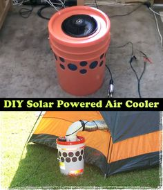 DIY Solar Powered Air Cooler Read HERE ---  http://www.livinggreenandfrugally.com/diy-solar-powered-air-cooler/