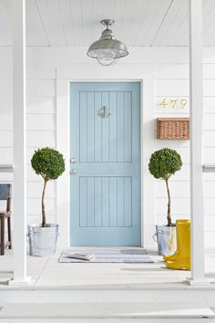 """Love this color for my front door - """"Blue Ground"""" by(?)"""