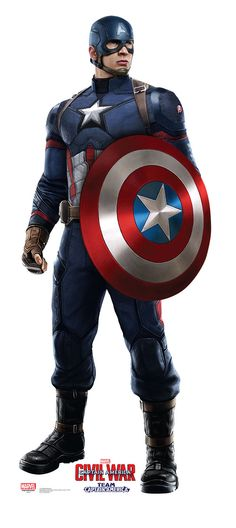 Captain America from Captain America Civil War Life-Size Cardboard Standup