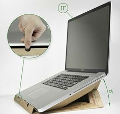 Diy: Laptop Stand from a pizza box--ingenious!