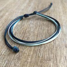 Shop Boho Chic Jewelry by Fanfarria on Etsy Friendship Bracelets Designs, Bracelet Designs, Anklet Designs, Anklet Bracelet, Bracelet Cuir, Bracelet Couple, Diy Bracelets Easy, Purvida Bracelets, Surfer Bracelets