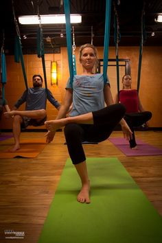 Kaya Wellness and Yoga offers antigravity yoga in their Aerial Yoga classes.