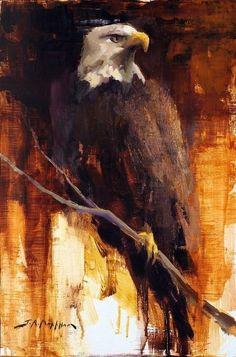 Jerry Markham :: Astoria Fine Art Gallery in Jackson Hole Wildlife Paintings, Wildlife Art, Animal Paintings, Eagle Artwork, Bird Artwork, Eagle Drawing, Eagle Wallpaper, Eagle Painting, Eagle Pictures