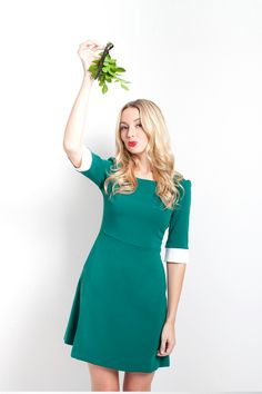 THE HENRY DRESS IN GREEN