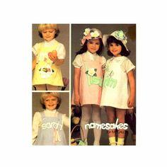 Girls Jumper Hat McCalls 8932 Vintage Sewing Pattern