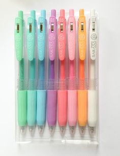 Milky Pastel Japan Pen Retractable Sarasa Ball Gel Ink Pen - .5mm