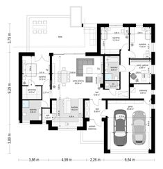 Projekt domu Willa parterowa 2 - rzut parteru