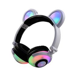 Foldable Bear Ear Headphones Panda Ear Games Headset with LED light Blinking Cosplay bearcat Earphone breathing Light for PC Mobile phones Upgraded Bear Ear Headphones LED Ear Headphone Wired Bear Earphone Flashing Glowing Headset Gaming Headset For PC Sumsung Blinking LED Glowing Bear Ear... more details available at https://perfect-gifts.bestselleroutlets.com/gifts-for-teens/video-games/product-review-for-foldable-bear-ear-recharging-headphones-panda-ear-games-headset-with-