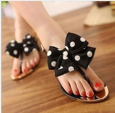 $23.87 Hansenne vivi bowknot wave point metal head girl sandal vivi bowknot wave point metal head girl sandal lovely style Heel height: 1 cm Material: PU + wire cloth