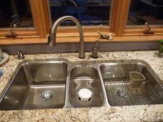 S $299.00   Elkay ELUH4020 Lustertone Undermount Stainless Steel 40x20x9 Triple Kitchen Sink #Elkay