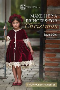 Gorgeous vintage looks that will be a favorite for her and your holiday pictures. Discover her fairytale dress now for her keepsake trunk later. Girls Fall Dresses, Little Girl Dresses, Holiday Dresses, Looks Vintage, Baby Girl Fashion, Kids Fashion, Fashion Outfits, Princess Dress Up, Fairytale Dress