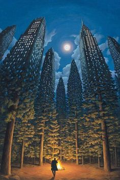 Today the Department of Astonishing Optical Illusions is pleased to present the work of Canadian artist Robert Gonsalves. Inspired at a young age by the work of Surrealist artists such as Salvador. Magritte, Robert Gonsalves, Optical Illusion Paintings, Optical Illusions Drawings, Art Optical, Illusion Kunst, Magical Paintings, Amazing Paintings, Famous Art Paintings