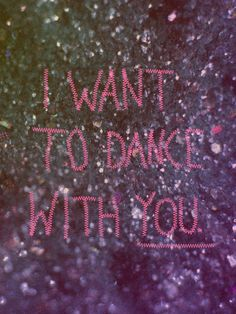 10.13.11  I want to dance with you.  Writer/Designer: Andrew Lawandus