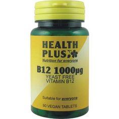 Health Plus - B12 1000ug 90 VTabs