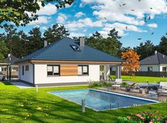 DOM.PL™ - Projekt domu ARP TRYTON 3 B CE - DOM AP2-28 - gotowy koszt budowy Home Fashion, Mansions, House Styles, Outdoor Decor, Home Decor, Houses, Homes, Luxury Houses, Interior Design