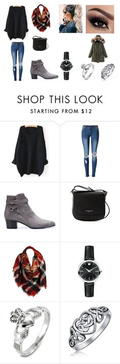 """""""Going on a date with my boyfriend!"""" by sarapotter98 ❤ liked on Polyvore featuring WithChic, Yves Saint Laurent, Lancaster, Sylvia Alexander, Movado, West Coast Jewelry, Bling Jewelry, Winter, outfit and ootd"""