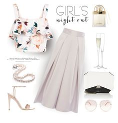 Champagne All Around by rever-de-paris on Polyvore featuring polyvore, fashion, style, New Look, Coast, Miu Miu, Givenchy, Chloé, LSA International, H&M, clothing, Summer, girlsnightout, contestentry and polyvoreeditorial