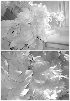 white paper flower jungle