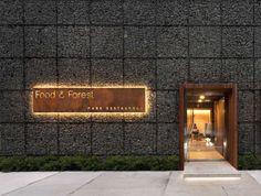 Food & Forest Restaurant Design by YOD Design Lab : Food & Forest Restaurant Design by YOD Design Lab Restaurant Design, Forest Restaurant, Restaurant Entrance, Entrance Signage, Restaurant Signage, Park Restaurant, Exterior Signage, Entrance Design, Design Hotel