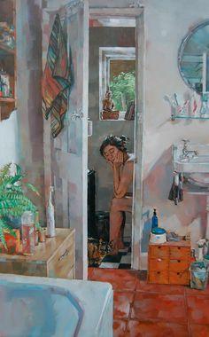 Simon DAVIS artist, paintings and art at the Red Rag British Art Gallery Painting Inspiration, Art Inspo, Wow Art, Pretty Art, Art Portfolio, Art Plastique, Aesthetic Art, Figure Painting, Oeuvre D'art
