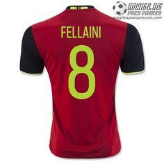 2016 UEFA Euro Belgium Marouane Fellaini 8 Youth Home Soccer Jersey  Football Jerseys cf05e0d9a