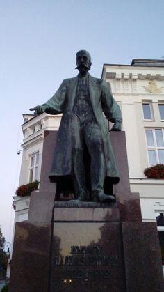 Statue of Ignacy Łukasiewicz in Krosno, Poland
