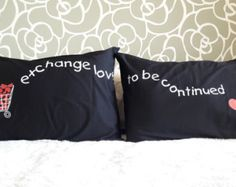 20N- Exchange Love to Be continued . Bed Pillow Cases / Covers by karmabcn. Explore more products on http://karmabcn.etsy.com