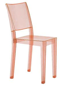 Kartell La Marie Transparent Pinky Orange Chair by Philippe Starck