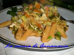 Pennette integrali alla carbonara di zucchine,ricetta light